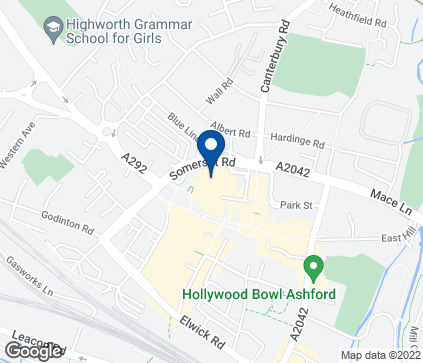 Map of 12 Park Mall in Ashford