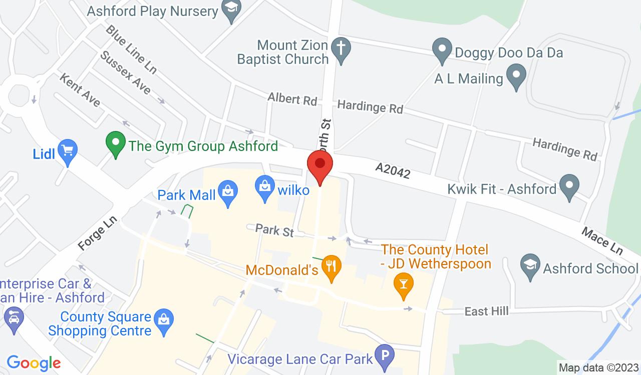 Google Map of Buenos Aires Steak House, Ashford, UK