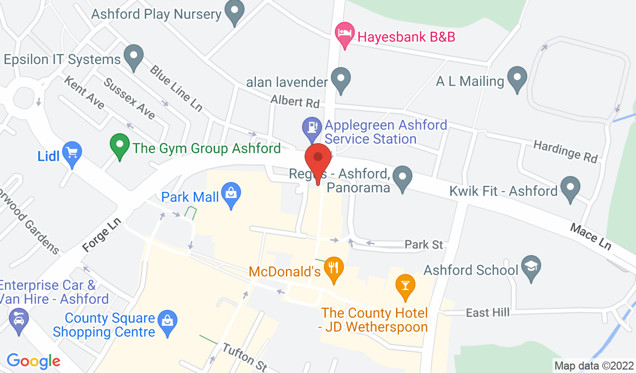Google Map of Calcutt Matthews, Ashford, UK