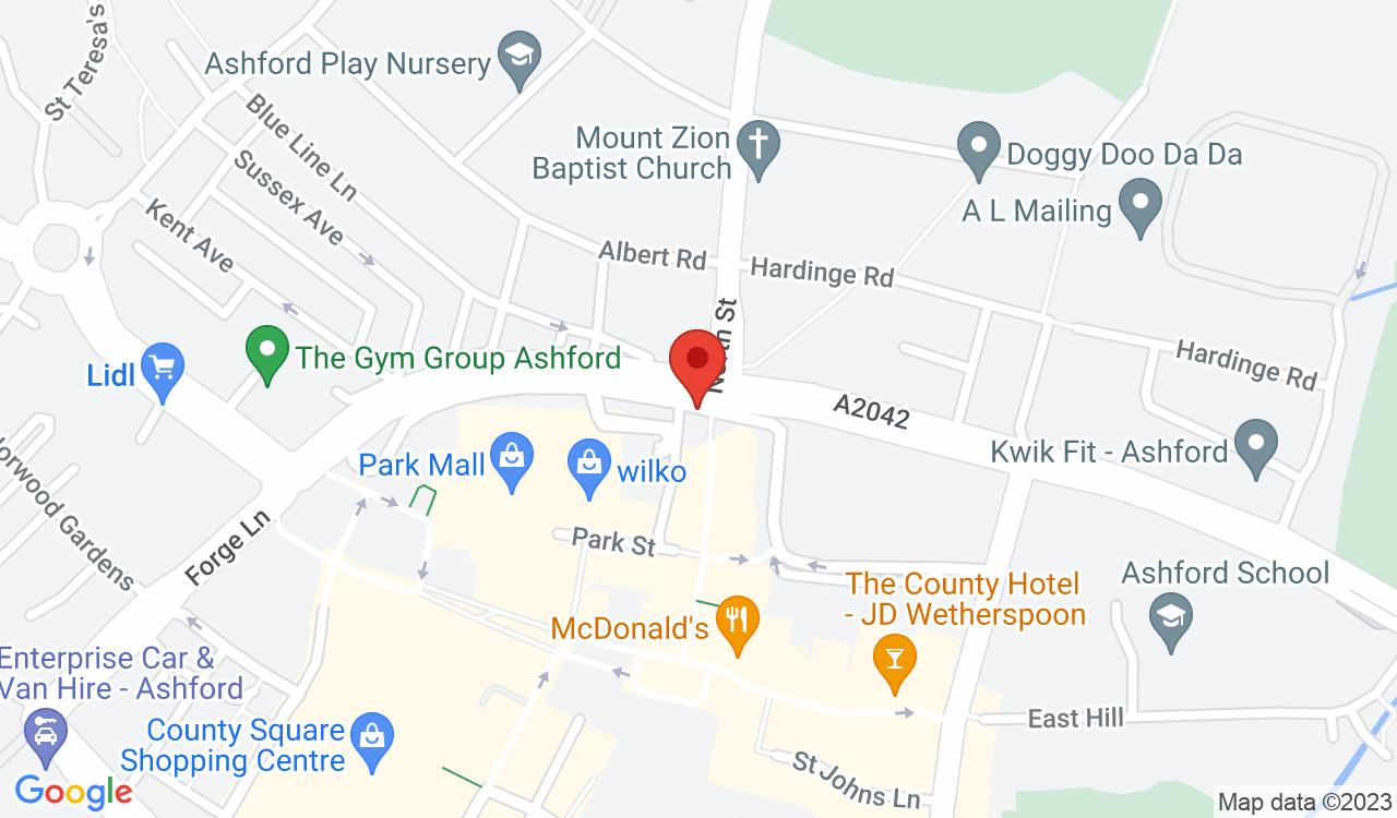 Google Map of Kentish Express, Ashford, UK