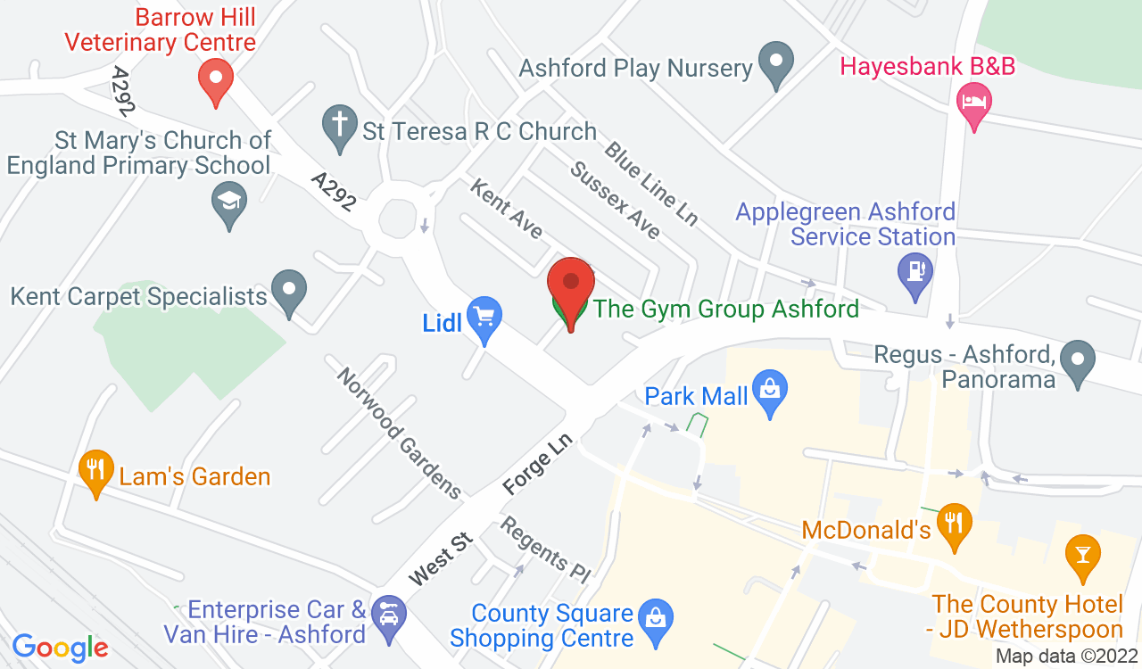 Google Map of The Gym Group, Ashford, UK