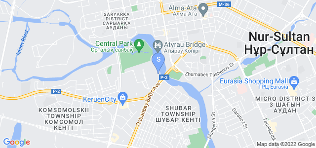 Location of The St. Regis Astana on map
