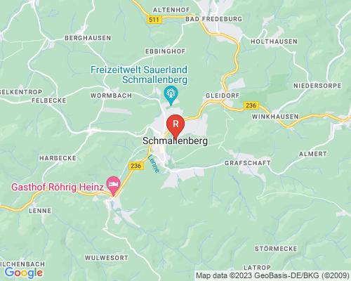 Google Karte von Rohrreinigung Schmallenberg