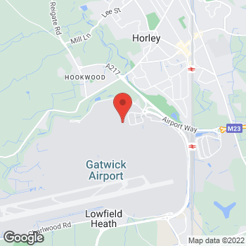 Map of Ray-Ban at Airside Departures, North Terminal, Crawley, West Sussex RH60PJ