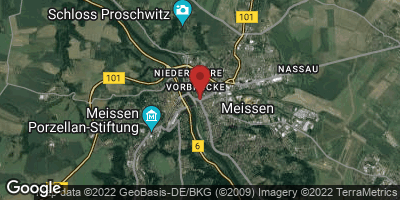 Google Map of Meißen