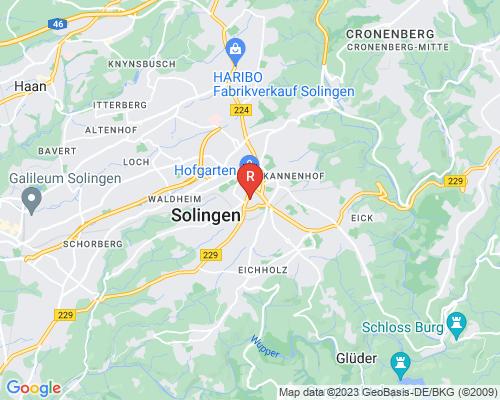 Google Karte von Rohrreinigung Solingen