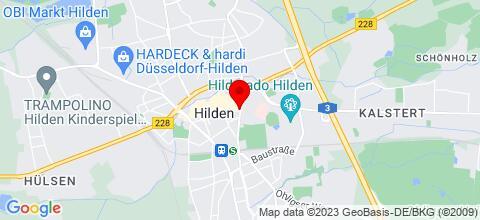Google Map für 12 Apartments Hilden