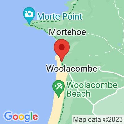 Map showing Heartbreak Hotel Coffee (Woolacombe Horsebox)