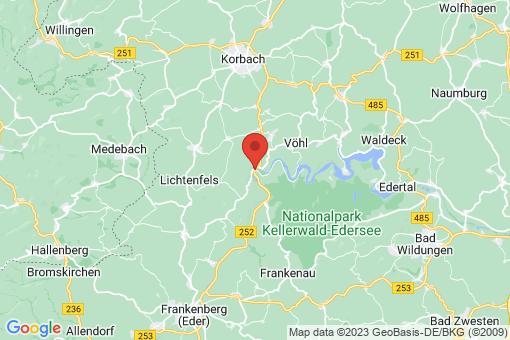 Karte Vöhl