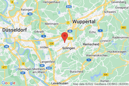Karte Solingen