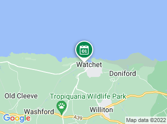 A static map of ShoreSearch February Survey - Watchet (West Beach)