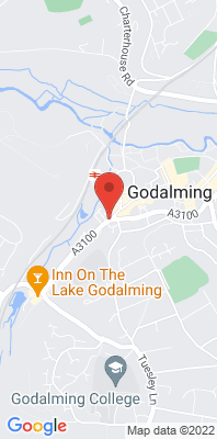 Map showing the location of the Godalming Ockford Road 2 monitoring site