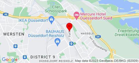 Google Map für Düsseldorf-Apartment-Furtherstr