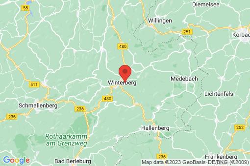 Karte Winterberg