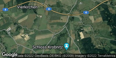 Google Map of Vierkirchen bei Görlitz