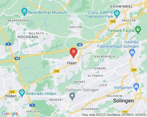 Google Karte von Rohrreinigung Haan