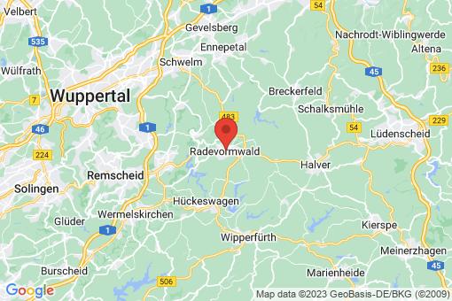 Karte Radevormwald