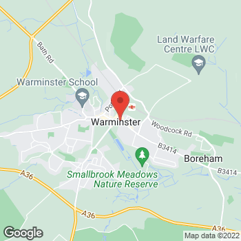 Map of Bargain Booze Market Place at 45 Market Place, Warminster, Wiltshire BA12 9AZ