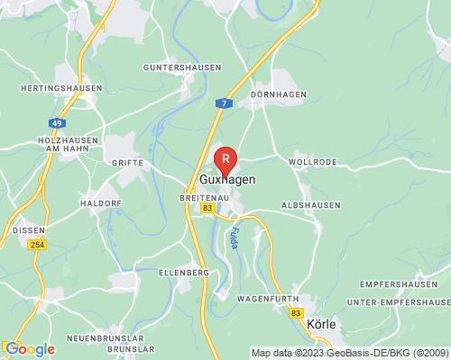 Google Karte von Rohrreinigung Guxhagen