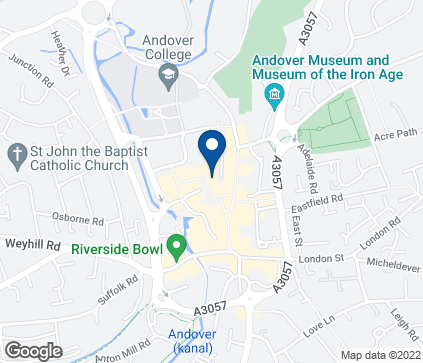 Map of 31-37 Chantry Way in Andover