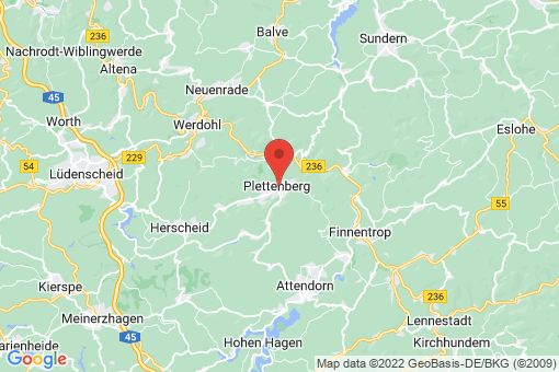Karte Plettenberg
