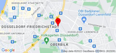 Google Map für Möblierte Appartements im Zentrum Düsseldorfs