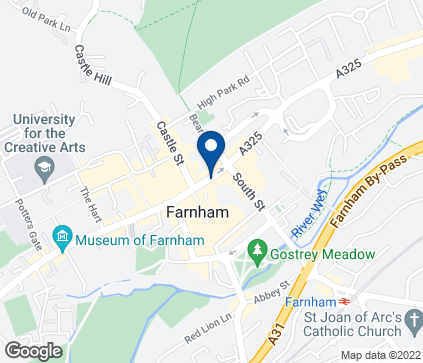 Map of 30 The Borough in Farnham