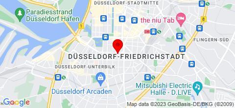 Google Map für 12 Apartments Düsseldorf