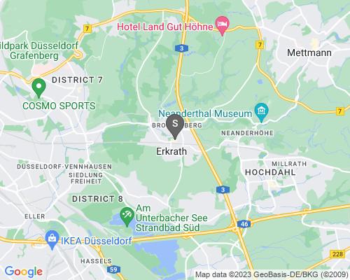 Google Karte von Schlüsseldienst Erkrath