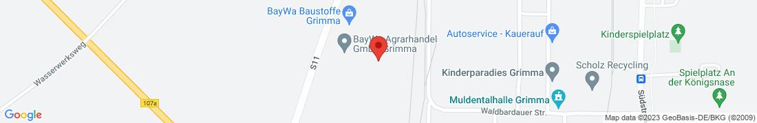 BayWa AG Leipzig - Grimma Anfahrt