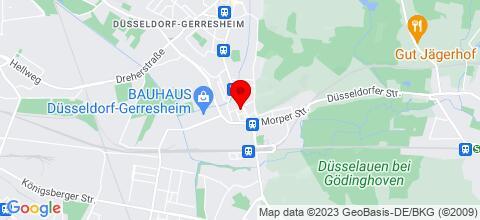 Google Map für bed & stay Düsseldorf