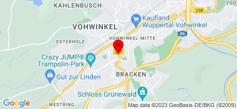 Google Map für Haus Café Licht in Wuppertal Vohwinkel