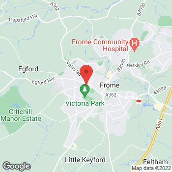 Map of The Co-operative Funeralcare at 1 Nunney Road, Frome, Somerset BA11 4LA