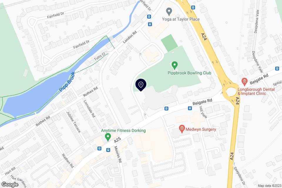 Reigate Rd, Dorking, RH4 1SG map