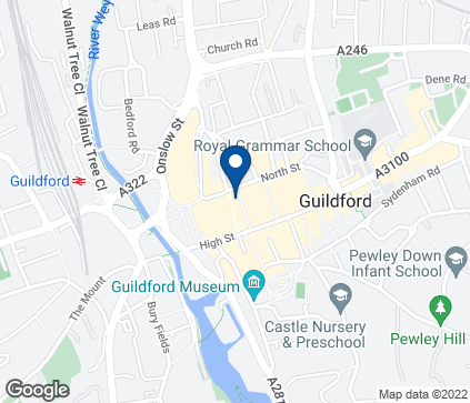 Map of 22-24 Swan Lane in Guildford