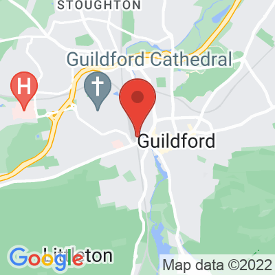 Map showing FCB Coffee (Guildford Railway Station)
