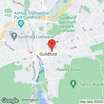 Map of STA Travel at 230 High Street, Guildford, Surrey GU1 3JD