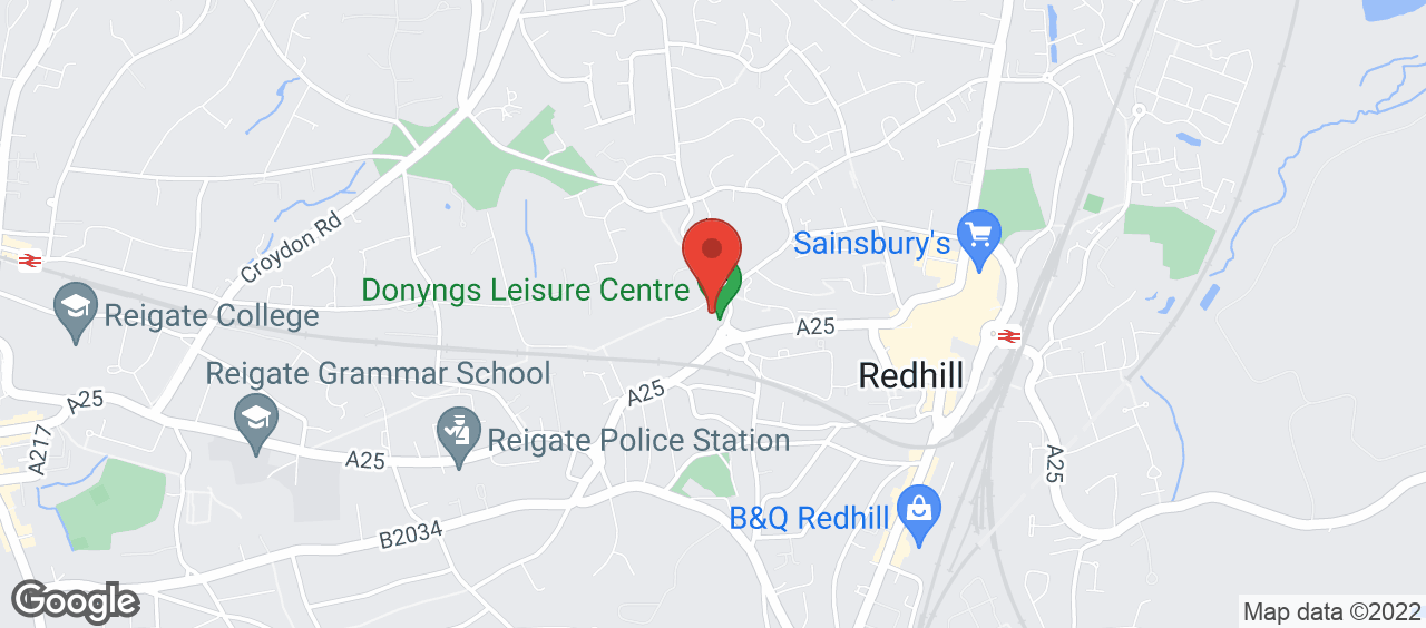 Donyngs Leisure Centre, Redhill location and directions