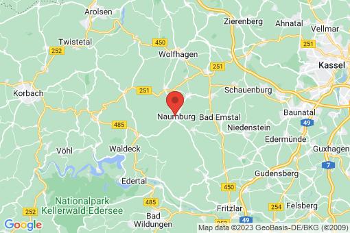 Karte Naumburg
