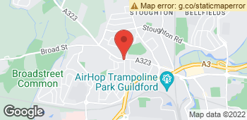 Map of Jeans Florist at 109 Aldershot Road, Guildford, Surrey GU2 8BE