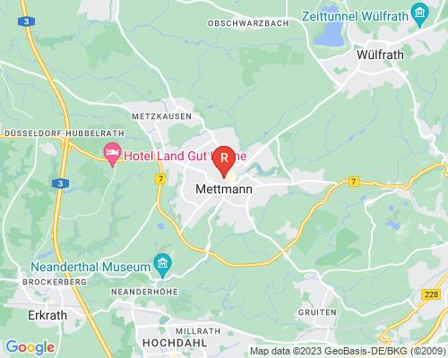 Google Karte von Rohrreinigung Mettmann