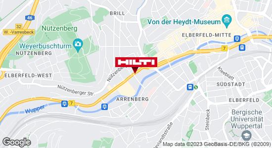 Wegbeschreibung zu Hilti Store Wuppertal