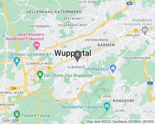 Google Karte von Schlüsseldienst Wuppertal