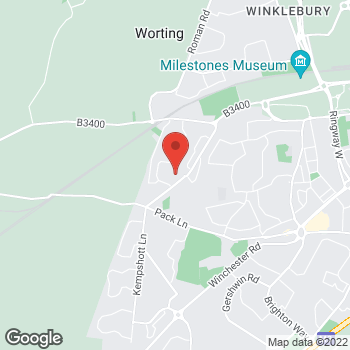 Map of Welcome Basingstoke, Blackdown Close at The Buckskin Centre, Basingstoke, Hampshire RG22 5BW