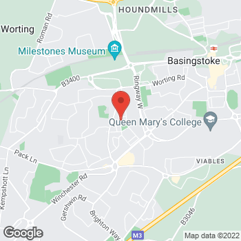 Map of The Co-operative Food Basingstoke, Kings Road at 37 - 39 Kings Road, Basingstoke, Hampshire RG22 6DJ