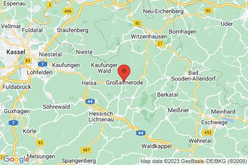 Karte Großalmerode