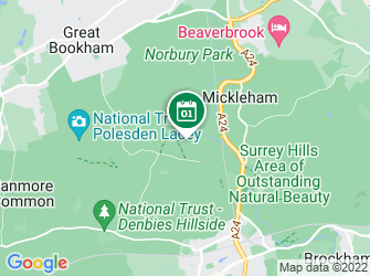 A static map of Norbury Park - Ragwort clearance