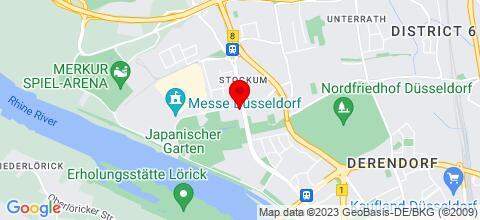 Google Map für Düsseldorf Room