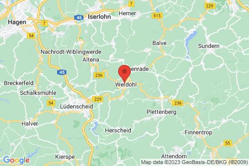 Karte Werdohl