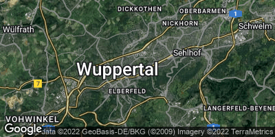Google Map of Wuppertal